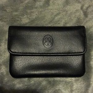 Leather vintage card and change purse